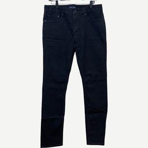 FIVE FOUR Men's Slim Black Jeans 33